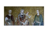 Madonna and Child Between Two Saints Giclee Print