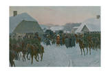 Napoleon Leaving the French Army at Smorgoni Giclee Print