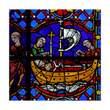 Window W08 Depicting the Relics of St Martin are Returned Giclee Print