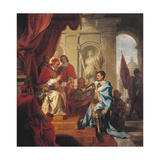 Pope Urban VIII Receiving the Principality of Palestrina from the Hands of Francesco Colonna Giclee Print
