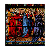 Window W6 Depicting Christ with the Apostles as Lazarus Is Raised from the Dead Giclee Print