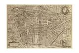 Perspective Plan of Bologna from Bononia Alma Studiorum Mater, 1575 Giclee Print