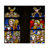 Window W137 Depicting St John with a Knight and Bishop Giclee Print