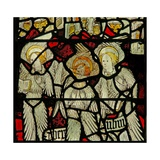 Window S3 Depicting the Angelic Hierarchy: Cherubim Giclee Print