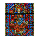Window W203 Depicting the Virgin and Child with Angelsi Giclee Print