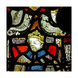 Window Sae Depicting a Composite Figure of a King and an Archbishop; Grotesques Giclee Print