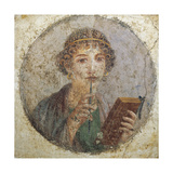 Roman Civilization, Portrait of Woman known as Sappho. from Pompeii Giclee Print