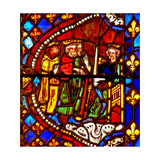 Window W6 Depicting the Magi with Herod Giclee Print