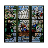 Window W18 Depicting a Resurrection Scene: the Miraculous Draft of Fish Giclee Print