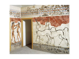 Greek Civilizationes Depicting Antelopes and Young Boxers, from Akrotiri, Thera, Santorini, Greece Giclee Print