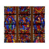 Window W200 Depicting the Crucifixion with Mary and John Giclee Print