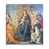 Madonna with Child and Saints Giclee Print