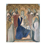 Madonna and Child, Saints and Angels Giclee Print
