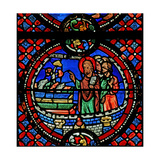 Window W9 Depicting St Andrew Turns Seven Demons into Dogs Giclee Print