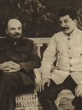 Lenin and Stalin Photographic Print