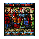 Window W6 Depicting Pharisees in the Synagogue Giclee Print