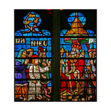Window W136 Depicting Scenes from the Story of Daniel: Before Nebuchadnezzar Giclee Print