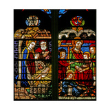 Window W132 Depicting the Nativity; Mary Cleophas and Child Apostles Giclee Print