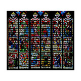 Window W236 Depicting Scenes from the Story of Daniel Giclee Print