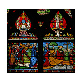 Window W6 Depicting a Scene from the Life of St Mary Magdalene - She Embarks on a Boat Giclee Print