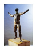 Bronze Statue of Zeus or Poseidon known as Artemision Bronze from Cape Artemision, Greece Giclee Print