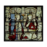 Window W5 Depicting a Donor and Wife Giclee Print