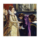 Maria De Medici, Queen of France, Became Rubens' Patron Giclee Print