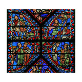 Window W2 Depicting the Magi with Herod, Annunciation to the Shepherds Giclee Print
