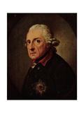 Künstler Graff, Anton, Friedrich II. Der Große,Preußen Giclee Print