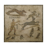 Roman Civilization, Mosaic Depicting Hunting Scene Giclee Print