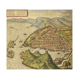 Map of Marseille from Civitates Orbis Terrarum Giclee Print