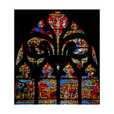 Window W1 Depicting the Crucifixion with Mary and John, the Via Crucis, the Deposition Giclee Print