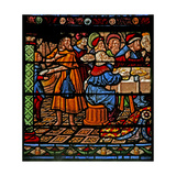 Window W6 Depicting the Meal at Simon's House Giclee Print