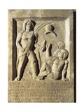 Roman Civilization, Funerary Stele with Relief Depicting Gladiator Fight, from Amisos, Turkey Giclee Print