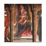 Enthroned Madonna, Detail of Triptych Giclee Print