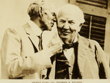 Henry Ford and Thomas Edison Photographic Print