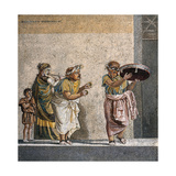Mosaic Depicting a Scene from a Comedy by Menander Giclee Print
