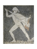 Alexander the Great and Hephaestion During Lion Hunt, Ca 320 Bc, Mosaic from Peristyle House 1 Giclee Print