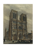 France, Paris, View of the Cathedral of Notre-Dame Giclee Print