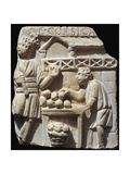 Roman Civilization, Bas-Relief Depicting Fruit Seller Giclee Print