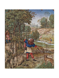 The Month of November: Gathering Acorns and Hunting Hares Giclee Print