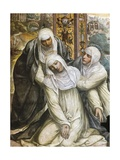 St Catherine Fainting from the Stigmata, 1526 Giclee Print