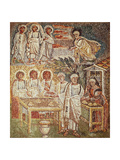 Panel with Mosaic Depicting Hospitality of Abraham, Central Nave, Basilica of Santa Maria Maggiore Giclee Print