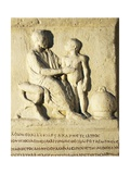 Roman Civilization, Relief Portraying Doctor Examining Patient Giclee Print