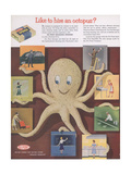 Advertisement for Dupont Cellulose Sponges, Page from 'The Du Pont Magazine', 1953 Giclee Print