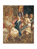 Louis XIV Visiting the Gobelins Factory Giclee Print