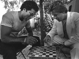Don Johnson and Philip Michael Thomas of the Television Show 'Miami Vice', 1984 Stampa fotografica