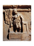 Roman Funerary Stele Relief Depicting Laundry, Detail Representing Laundryman Standing in Washtub Giclee Print