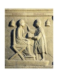 Roman Civilization, Relief Portraying Ophthalmologist Examining Patient Giclee Print