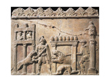 Roman Civilization, Relief Portraying Gladiators and Lions Fighting in Circus Giclee Print